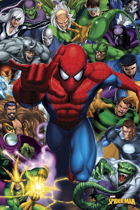 Spiderman Fan Art Spider Man Enemies Poster By Trends The 5 Står åward Of Aw Yeah It S Major åw Spiderman Spiderman Art Marvel Spiderman
