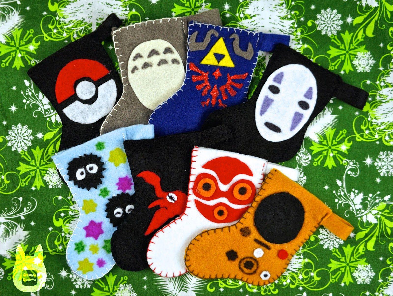 Otaku Crafts Mini Stocking Ornaments/Giftcard Holders