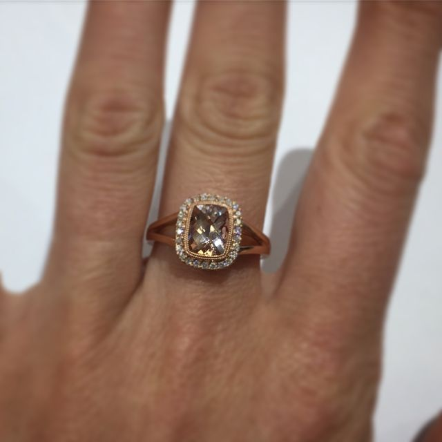 Morganite Engagement ring Right hand ring alternative engagement