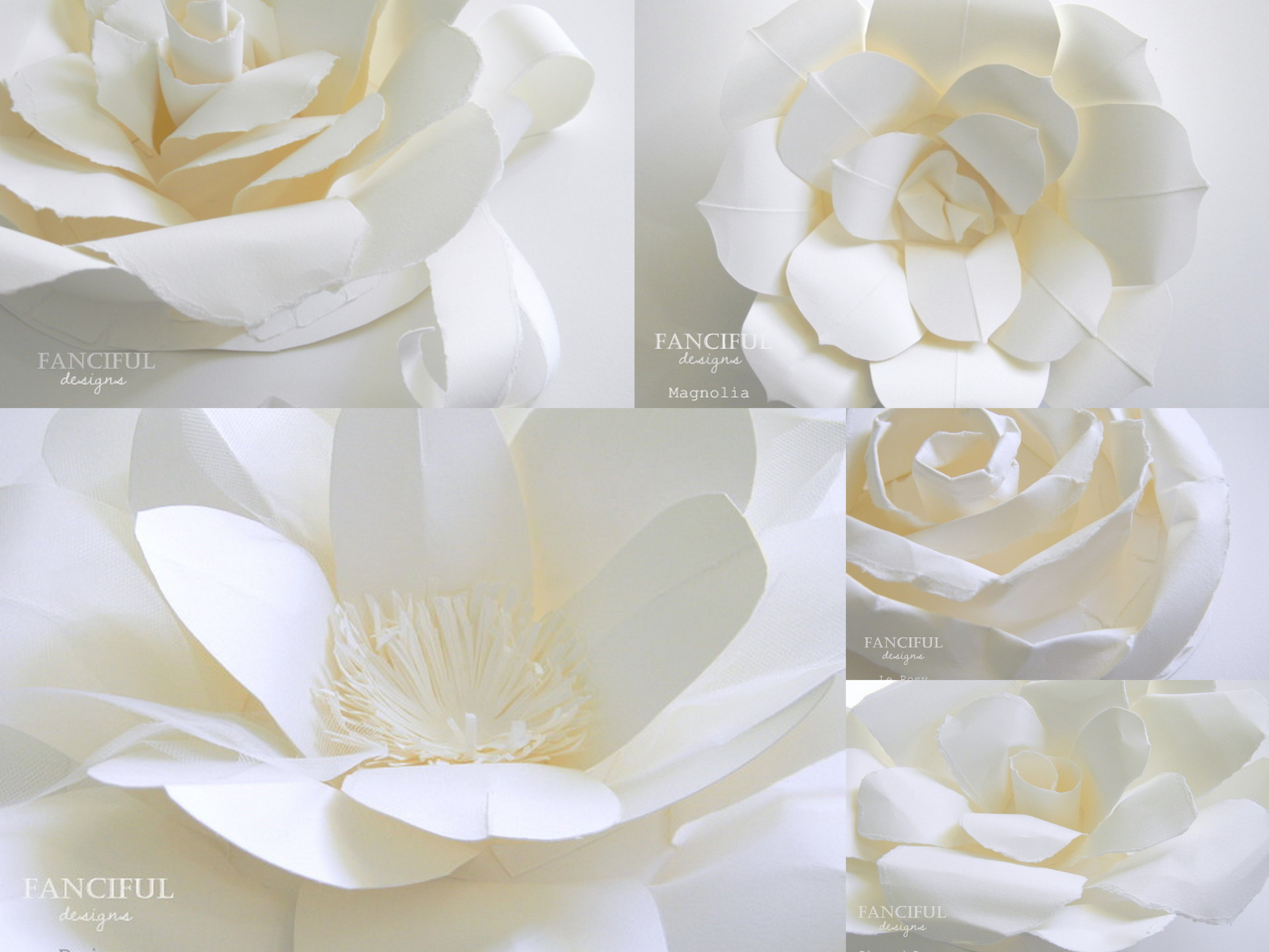 Fanciful designs product paper flowers large paper