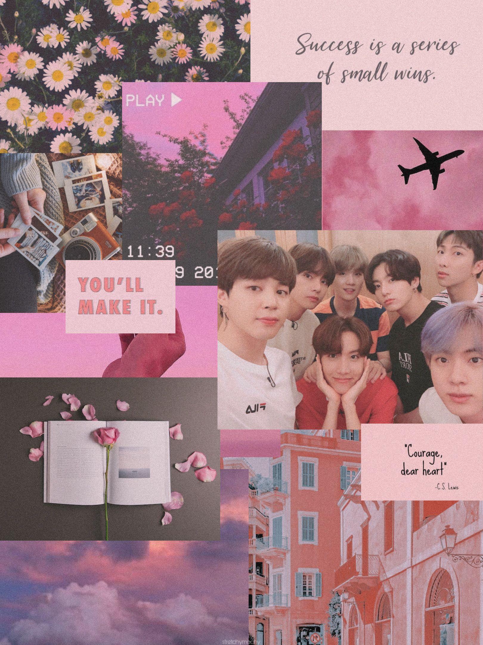 Aesthetic Bts Selca Selfie Ipad Pink Wallpaper Pink Wallpaper Bts Wallpaper Wallpaper Bts aesthetic wallpaper ipad