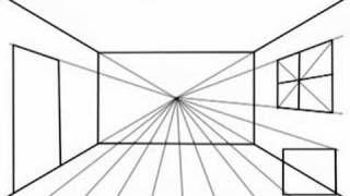 Perspektivtegning 1 Perspectief Kunst Perspectief Tekening Eenpuntsperspectief