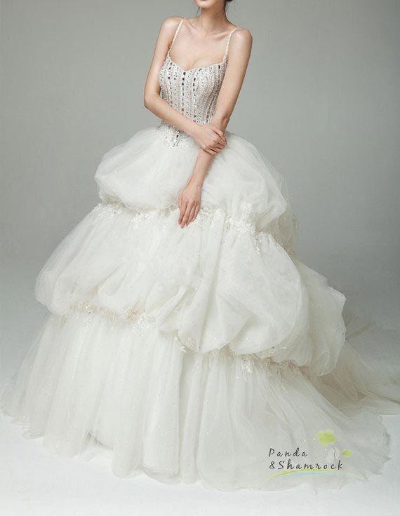 Spaghetti Straps Awesome Beauty Vintage Wedding Dress For Summer By Panda Shamrock