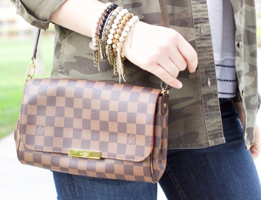 Louis Vuitton Favorite MM Damier Ebene Crossbody  09d9a041773