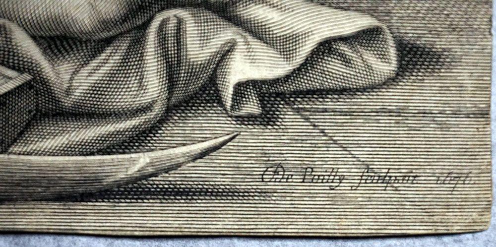 François de Poilly d'après Pierre Mignard  Thèse de Camille Le Tellier Gravure, 1692 Abbeville, musée Boucher-de-Perthes