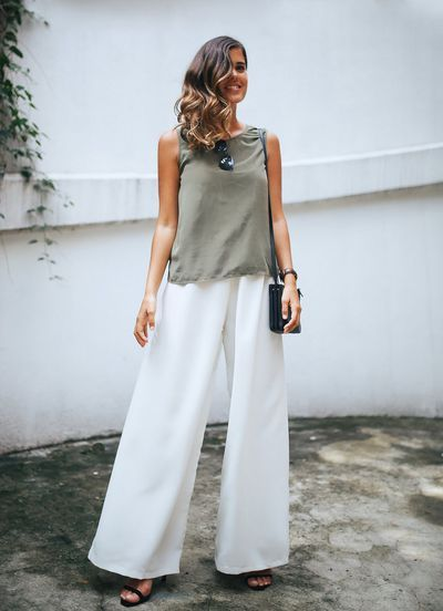 Diy Easy Wide Leg Trousers Sew What Pinterest Sewing Sewing