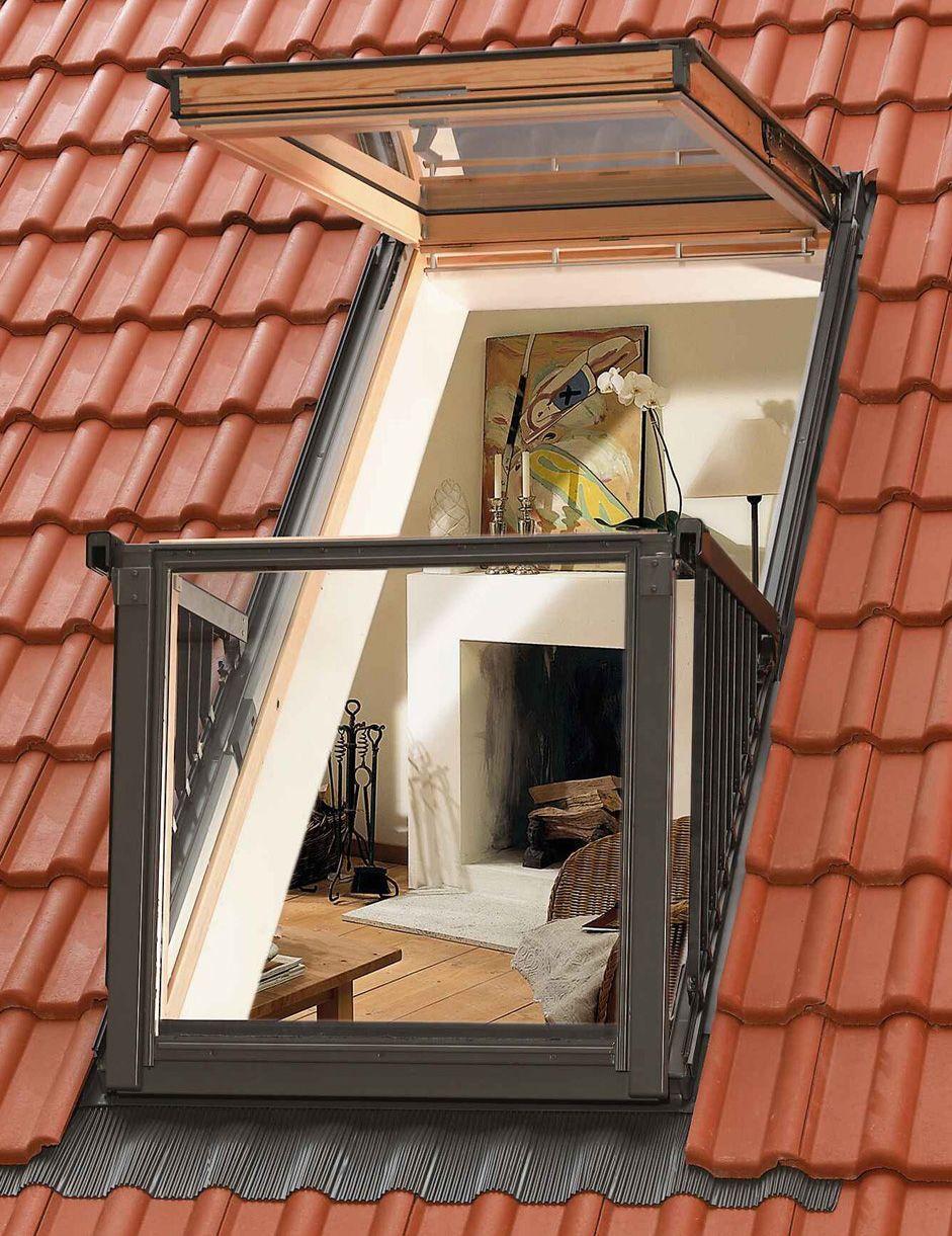 velux cabrio – kombination aus dachfenster und balkon | loft