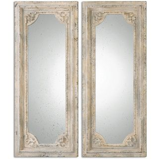 Shop for Uttermost Rapallo Aged Ivory Decorative Wall Mirrors Set