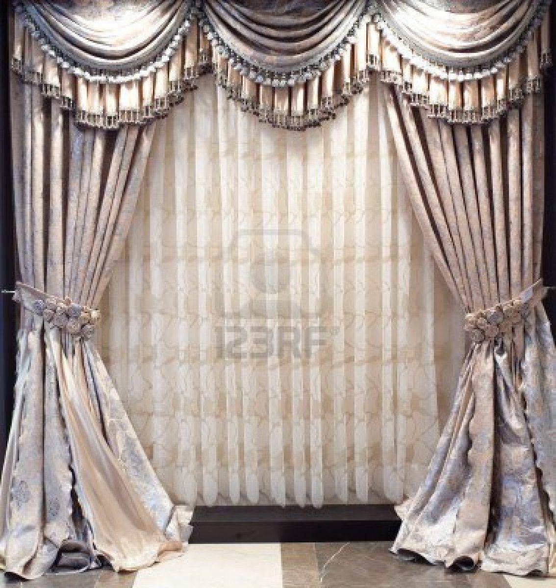 Designer Curtains | Photo luxurious old fashioned designer window ...