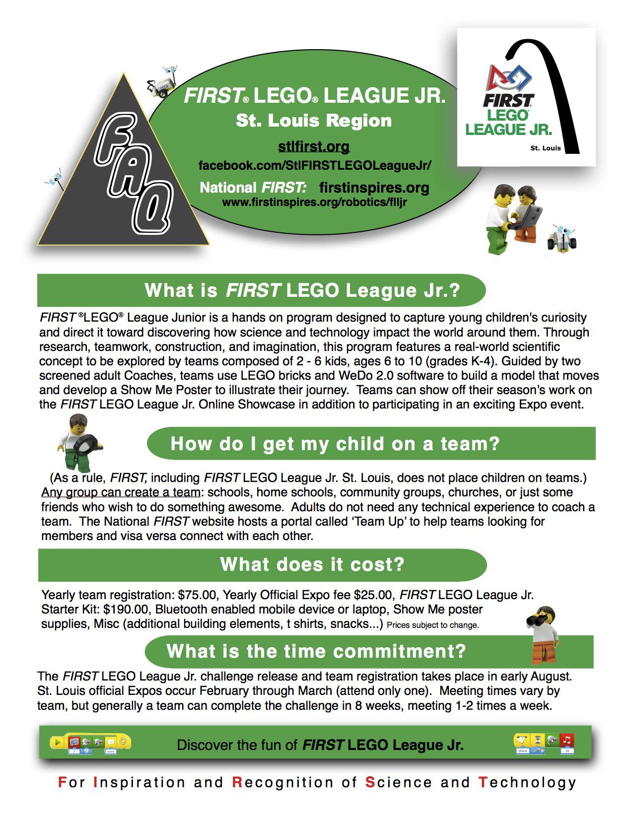 First Lego League Jr Grades K 4