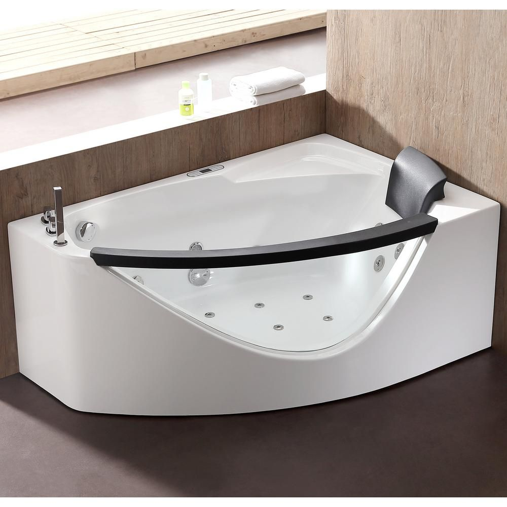 Eago Am198etl L 59 In Acrylic Flatbottom Whirlpool Bathtub In