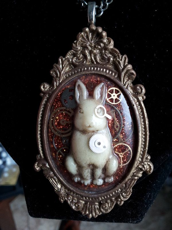 Frederickson -OOAK Steampunk Bunny Cameo by OrigamiSoldier on DeviantArt
