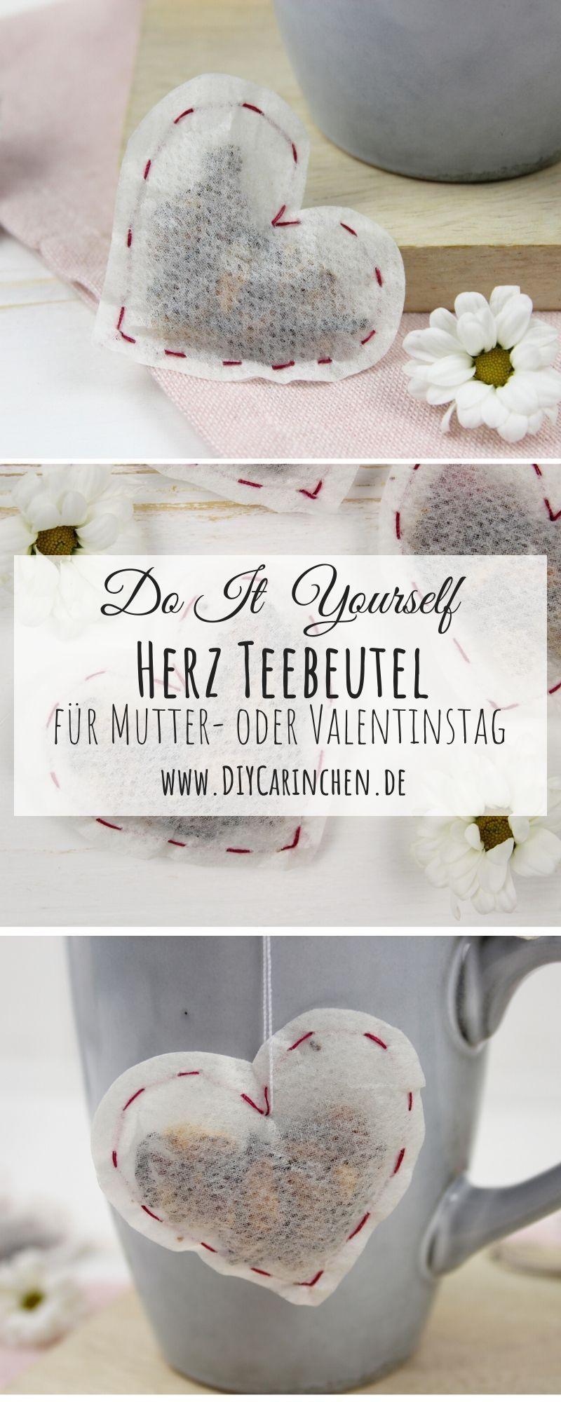 DIY Herz Teebeutel selber machen – perfekt für Valentinstag oder Muttertag
