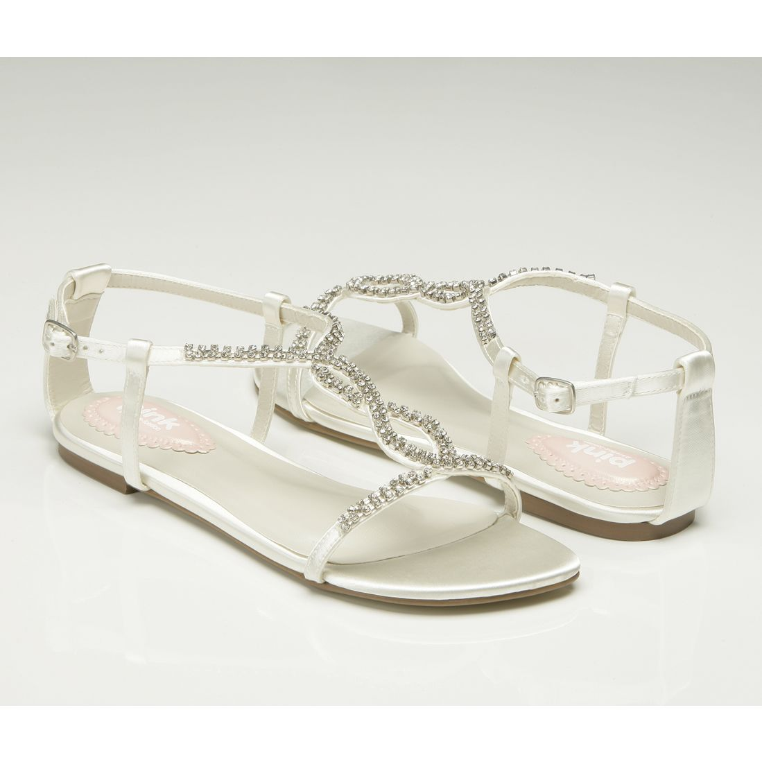 Flat wedding sandals heaven by pink paradox wedding shoes flat wedding sandals heaven by pink paradox wedding shoes crystal bridal accessories junglespirit Gallery