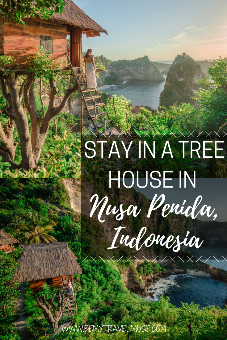Looking for a unique accommodation experience in Nusa Penida, Indonesia? I found a gem on Airbnb - a treehouse overlooking the most gorgeous view of the island. Here is a full review and link to the exact place | Be My Travel Muse | Nusa Penida travel guide | unique accommodation Southeast Asia