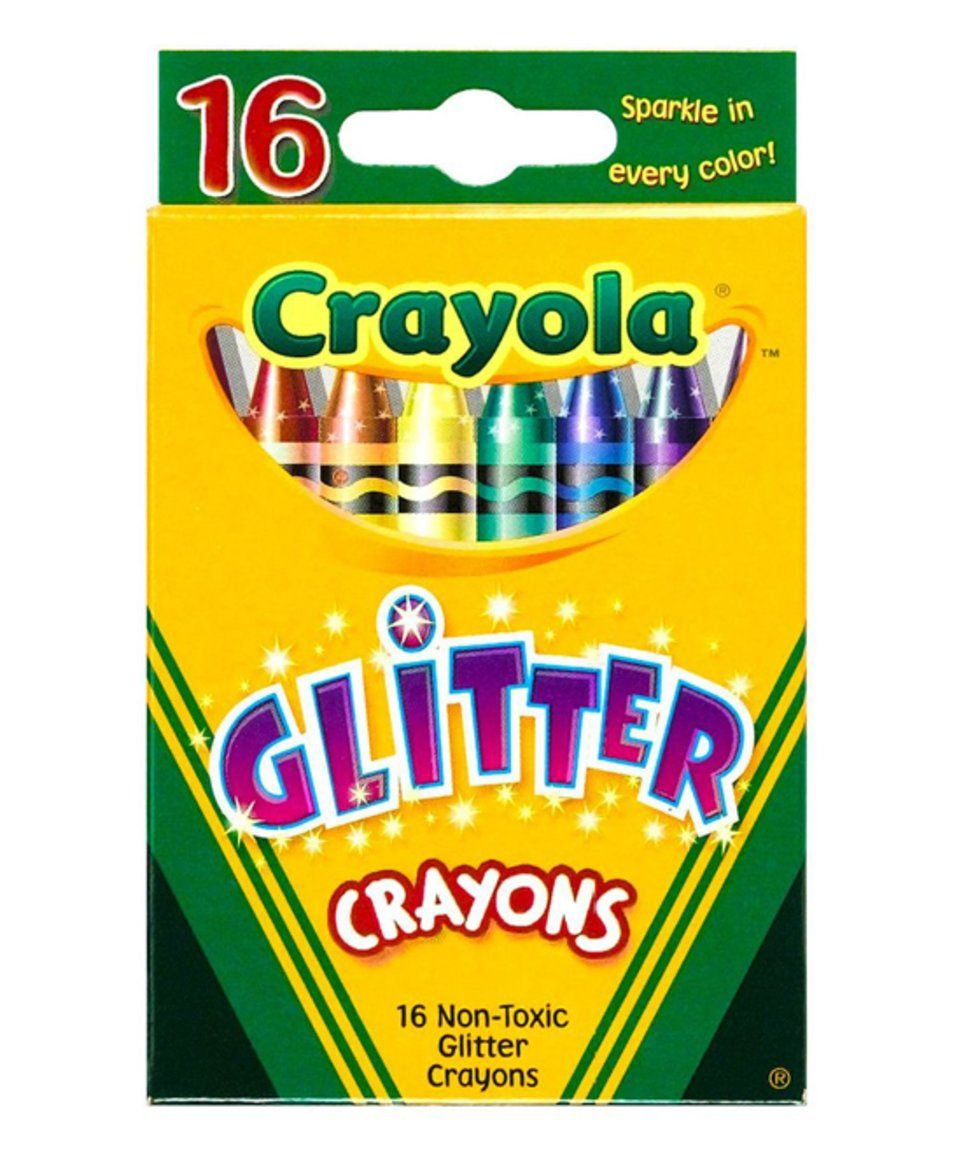 Take a look at this Crayola Crayola Glitter Crayon - Set of 16 today!