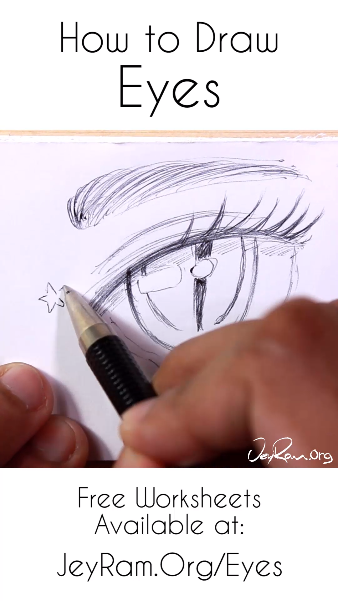 How to Draw Eyes: Step by Step Tutorial for Beginners PDF by JeyRam -  - #beginners #draw #eyes #JeyRam #PDF #step #Tutorial