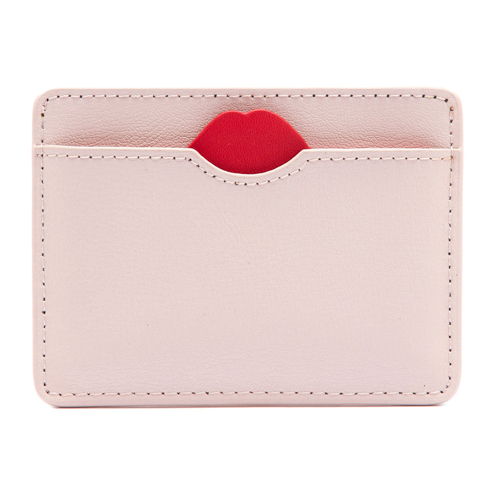 Buy Lulu Guinness Red Lip Cut Out Cate Cardholder - Blush | Amara #cantaps