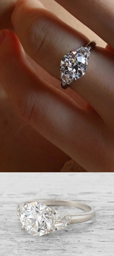 Vintage Cartier engagement ring from the 1950s set with a 201 carat