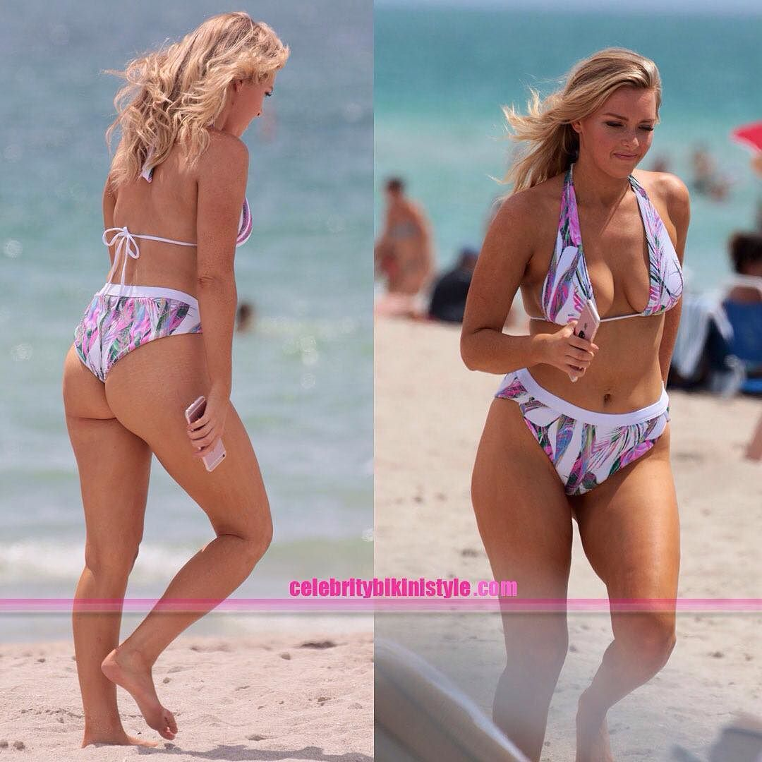 e9f55919ee1e90 SI Swimsuit model Camille Kostek in a high waisted bikini by SI Swimwear at  the beach #blonde #bikini #booty #siswimsuit #sportsillustratedswimsuit ...