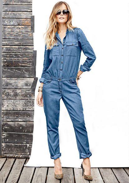 Jenni Denim Jumpsuit - Plus Size Jumpsuits/Overalls - Alloy Plus ...