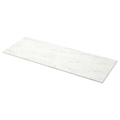 Ekbacken Plan De Travail Blanc Marbre Stratifie 246x2 Ikea En 2020 Plans De Travail Blancs Plan De Travail Stratifie