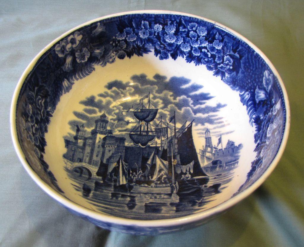 Lovely Blue Transferware Bowl Ferrara Wedgwood Etruria