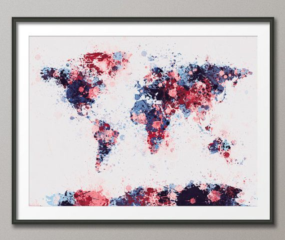 Paint splashes map of the world map art print 184 paint splash paint splashes map of the world map art print 184 by artpause gumiabroncs Choice Image