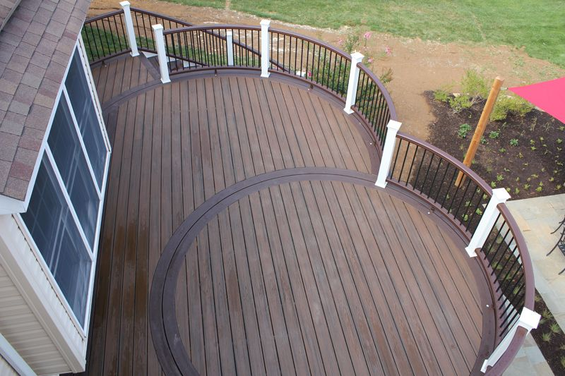 repeating round pattern in this wow deck deck designs by on wow awesome backyard patio designs ideas for copy id=81352