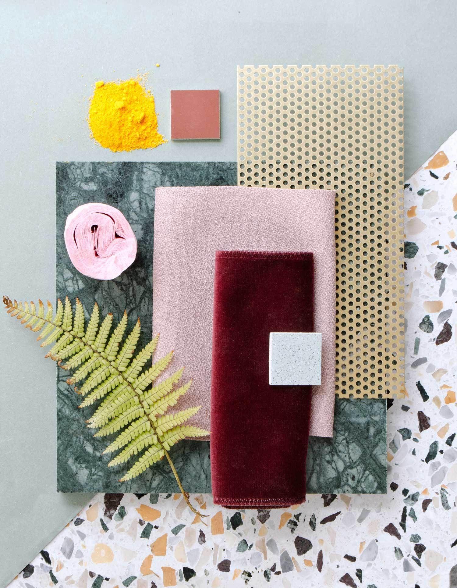 Terrazzo Trend In Interiors And Design Italianbark Color Palette Interior Design Mood Board Interior Mood Board Design