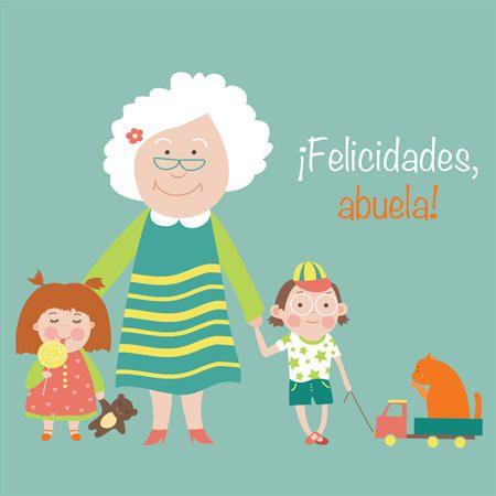 Abuela Y Nietos Dibujo Abuela Dia Del Abuelo Abuelo Y Nieta