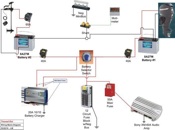 Boat Wiring Diagram Boat Wiring Boat Battery Boat Trailer Lights