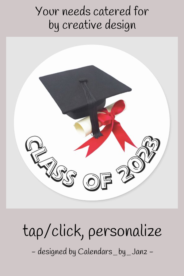 Class Of 2023 Cap And Diploma Sticker By Janz Zazzle Com In 2020 Graduation Stickers Custom Graduation Gift Graduation Party Centerpieces