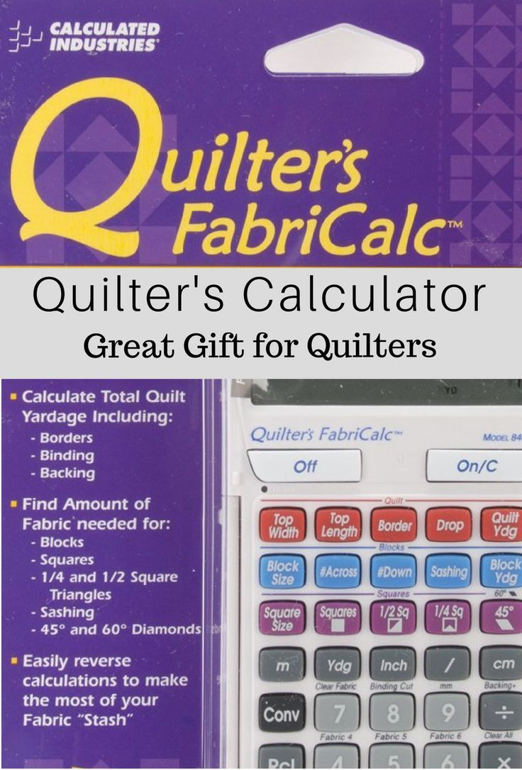 Best gifts for quilters quilters calculator allows you
