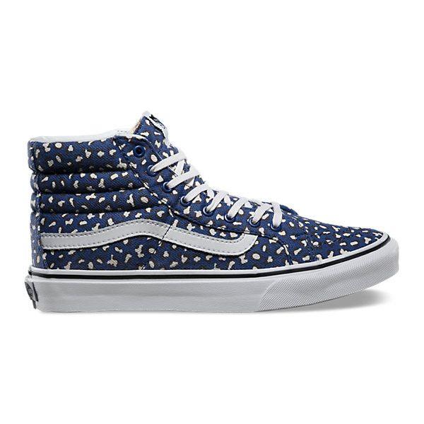 ac42f75830 Herringbone Leopard SK8-Hi Slim ( 65) ❤ liked on Polyvore featuring shoes