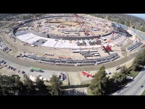 Latest 4K drone video of Apple Campus 2 posted, roof now started | The full internal structure has now been started including all the way to the roof in one part of the video.