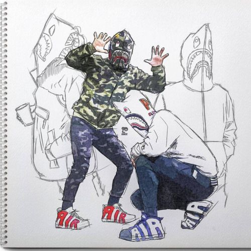 http://SneakersCartel.com Bape x Nike Air More Uptempo Another dope sketch