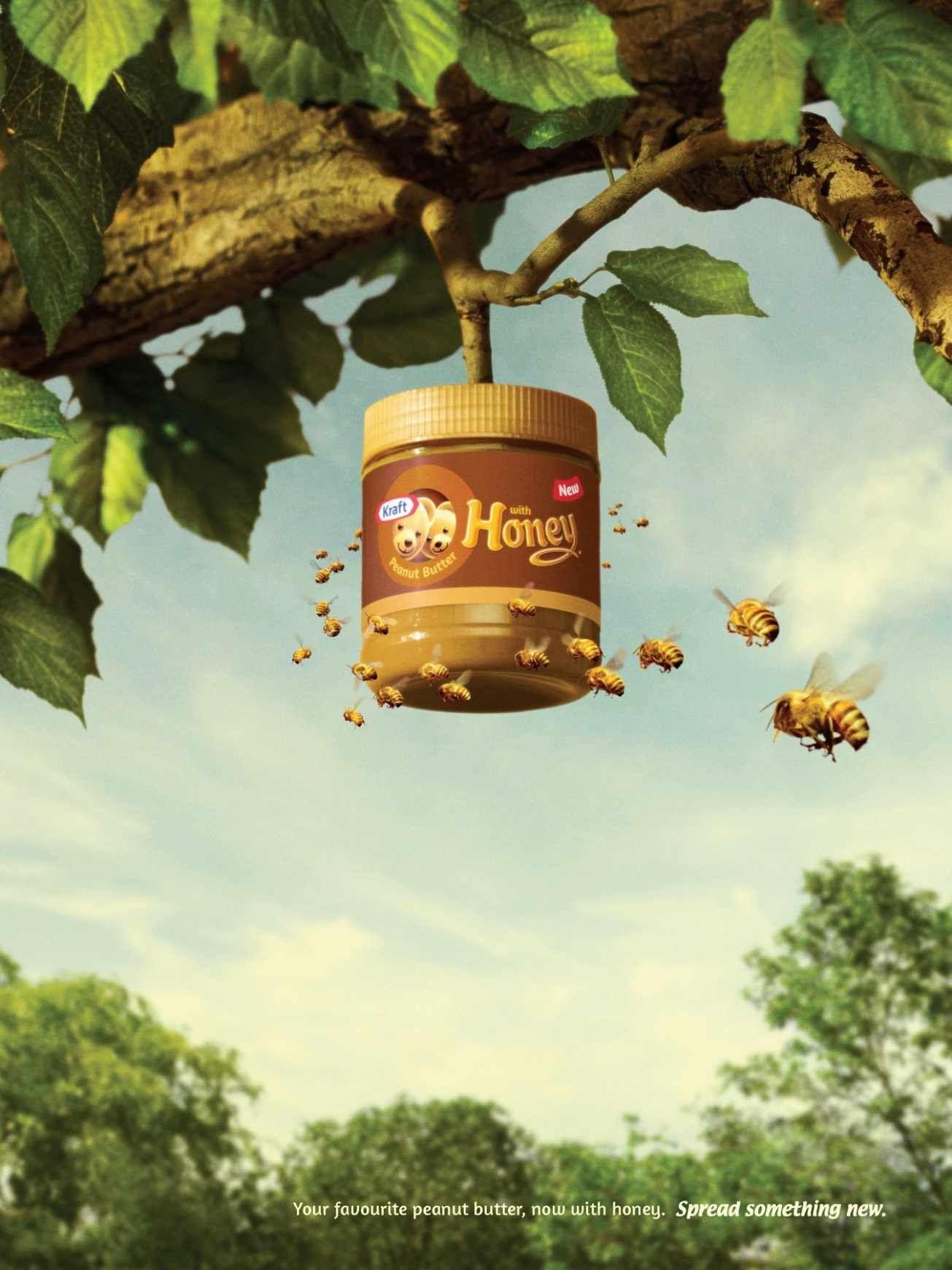 Kraft Peanut Butter with Honey: Beehive