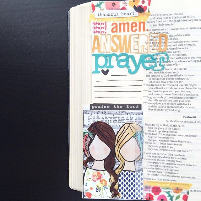 Need a pick me up? May I recommend writing down your *answered* prayer requests? I'm documenting a specific answer to prayer in Psalm 66 over on my channel today ☺️ #linkinbio #illustratedfaith #printprayshop #biblejournaling