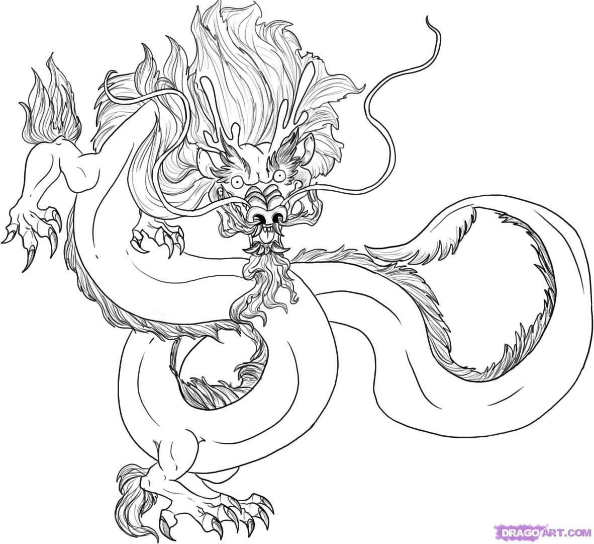 How To Draw A Traditional Chinese Dragon by Dawn Dragon