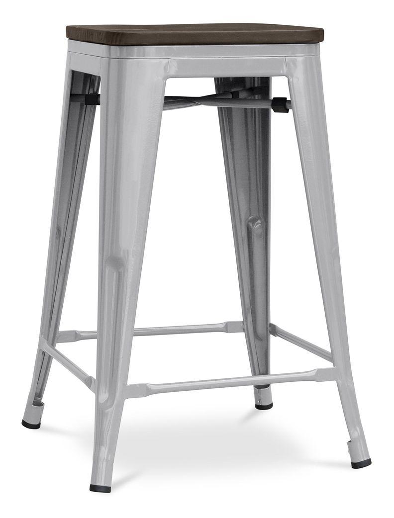 Tabouret Tolix 60cm Assise En Bois Xavier Pauchard Style Metal Gris Clair A347065 Home Decor Furniture Decor