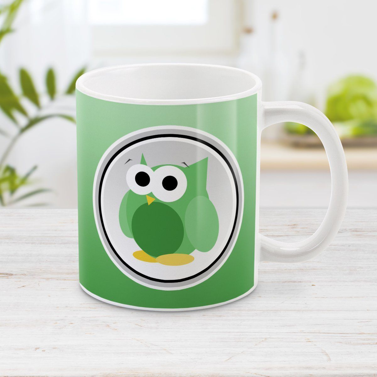 Funny Cute Green Owl Mug Owl mug, Mugs, Coffee mugs