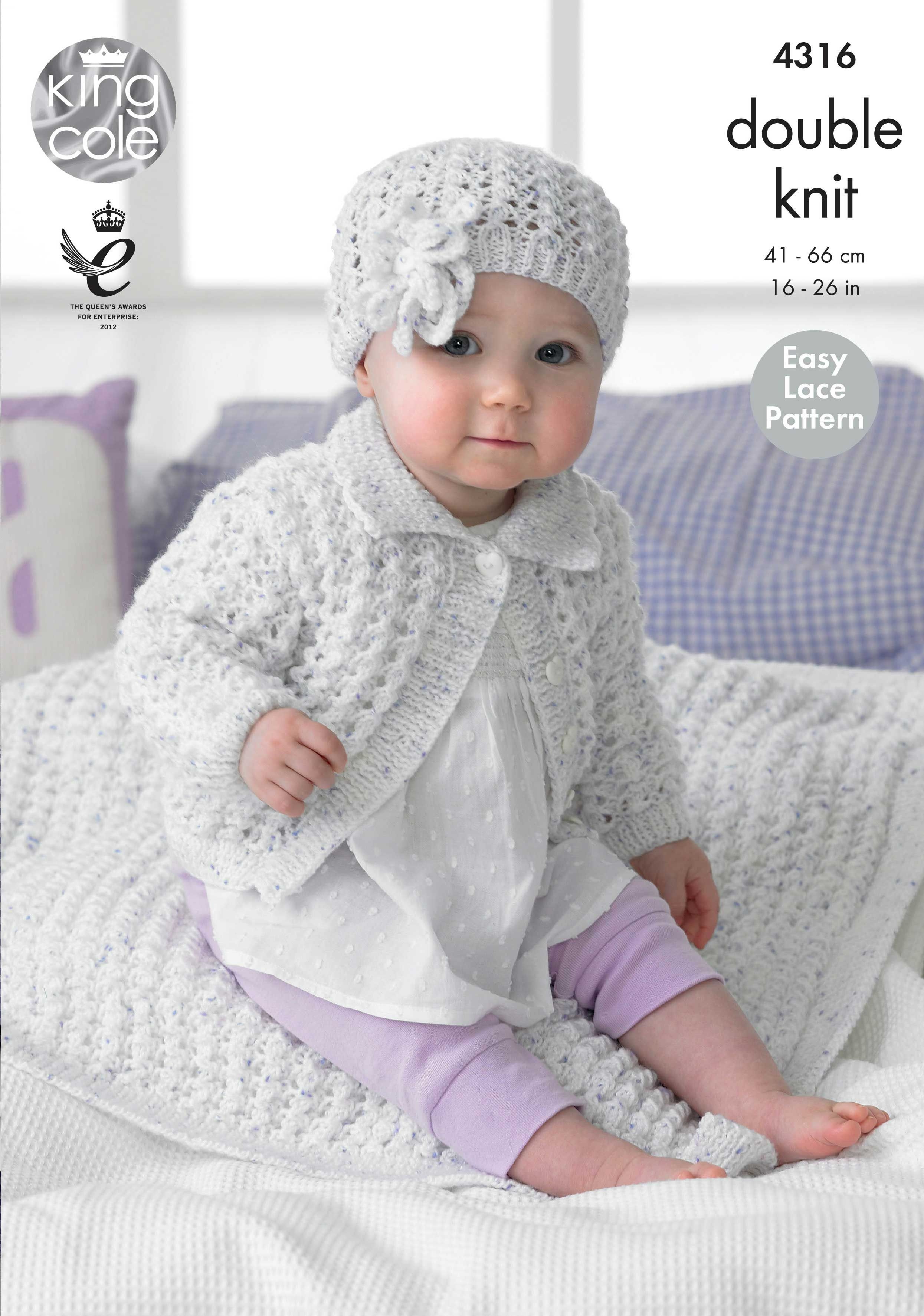 Girl\'s Cardigan, Blanket and Hat Knitted with Smarty DK - King Cole ...