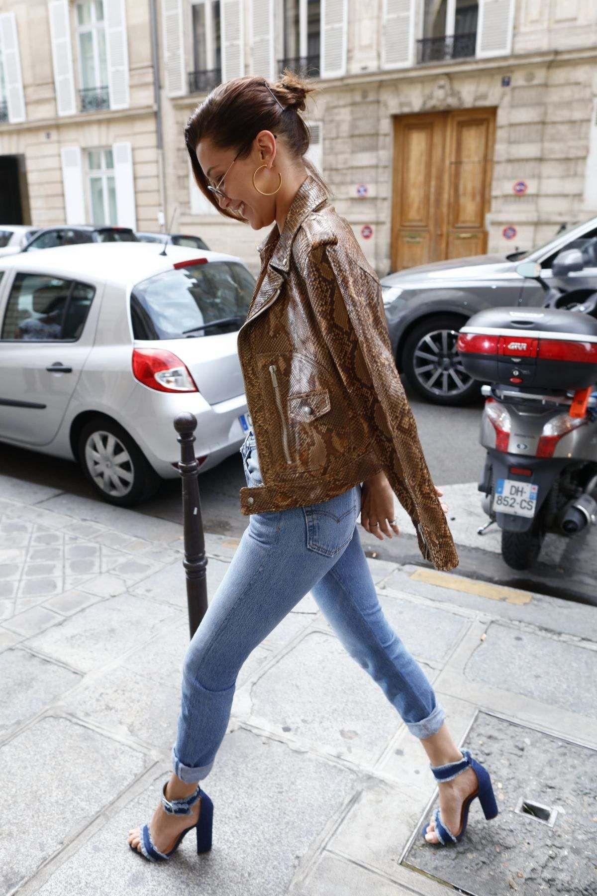 Bella Hadid In Skinny Jeans Out In Paris  0c2fa8b5ff