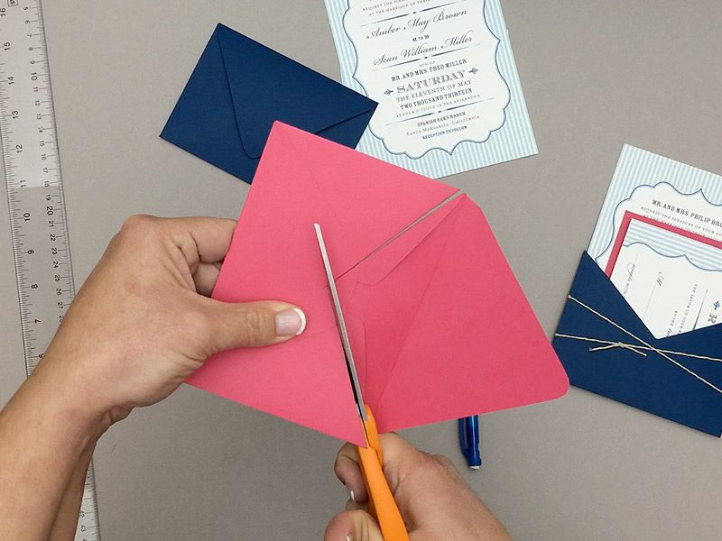 make your own wedding invitations online free%0A Turn envelope into DIY wedding invitation pocket   Download  u     Print