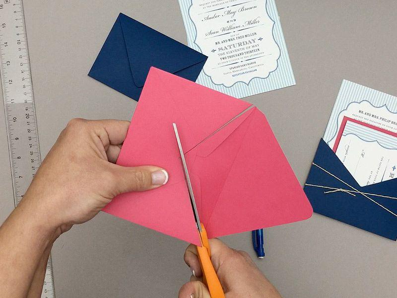 how to return address wedding envelopes%0A Turn envelope into DIY wedding invitation pocket   Download  u     Print