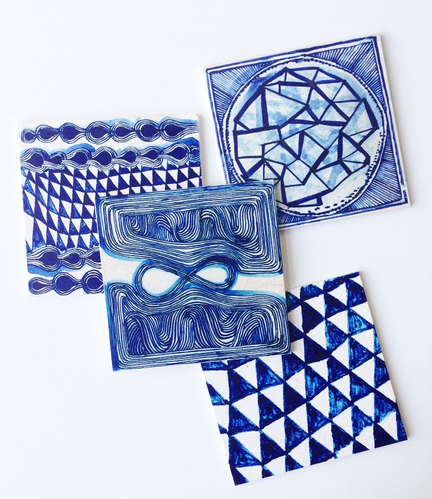 tiles hand-lithographed onto honed limestone | \'much love me\', by ...