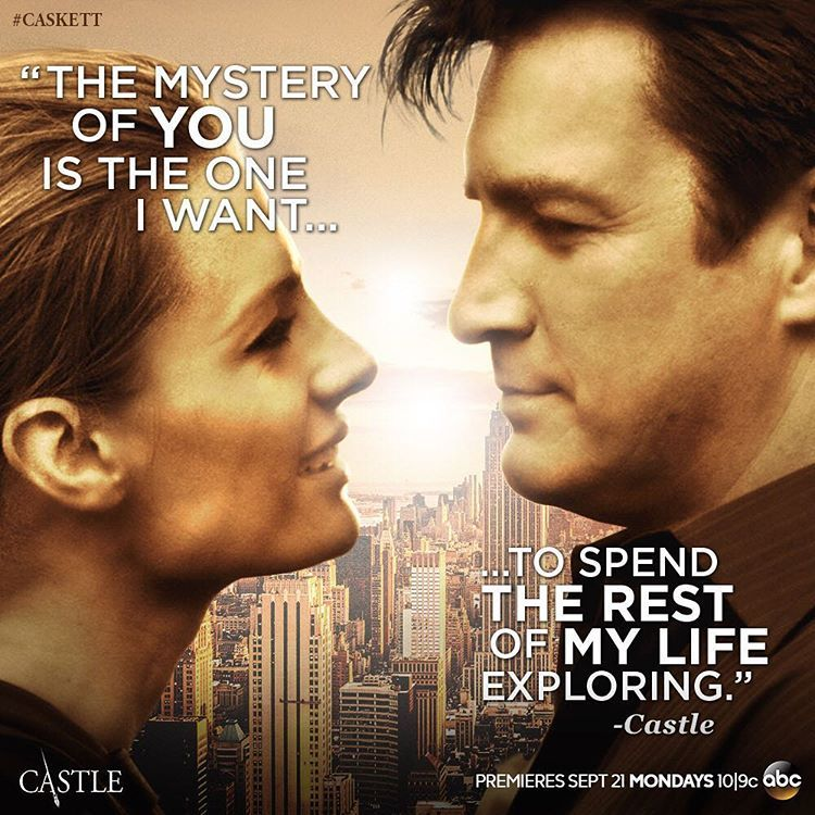 @abccastle #Castle and Beckett know what love is. Season 8 premieres Monday, September 21 at 10|9c on ABC.