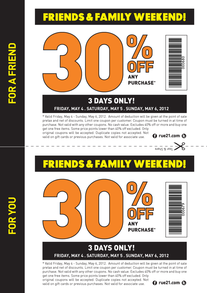 photo relating to Rue 21 Coupon Printable identified as 30% off this weekend at rue21. Interesting coupon application Social gathering Suggestions