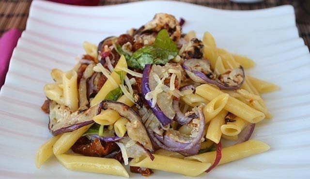 Salade de pâtes à l'aubergine - Plat et recette - Weight Watchers